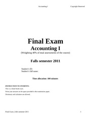 Final Exam Solution_Fall semester 2011