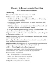 Chapter 4: Requirements Modeling