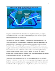 The global oceanic conveyer belt