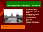 Class 7 The Life of Christopher Columbus