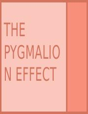 The Pygmalion effect edited version