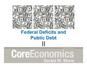 Macroeconomic Principals Chapter 11 Federal Deficits and Public Debt