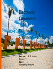 Chapter 3_Retailing in EC Products and Service