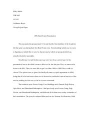 Best Picture Essay