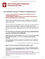How to Recognize Plagiarism -- Mail Certificate_ School of Education, Indiana University Bloomington