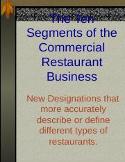 Market segements of the food service industry.ppt