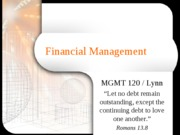 Financial_Management_Fall2006