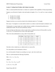 MIE376 Lec8 Column Generation
