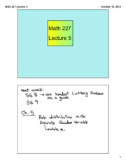 Math 227 Lecture 5
