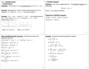Lecture Notes on Antiderivatives