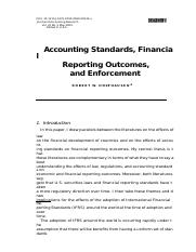 2 Accounting standards and financial reporting outcomes(1)