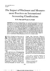 nair_frank_1980_the impact of disclosure and measurement practices on international accounting class