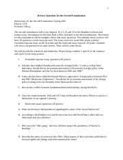 Review Questions for the Second Examination History 1378 Spring 2016.docx