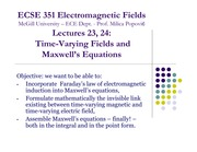 Lecture 24 - Faraday Maxwell