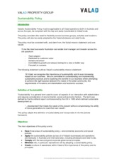 Handout 7 Valad_Sustainability_Policy Handout