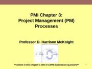 PMI Chapter3 Project Management Process