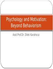 Psychology and Motivation II