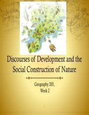 Week 2 Social Construction and Discourse