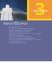 Chapter 3 Input and Output