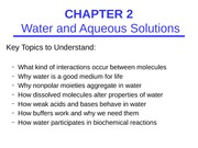 CHEM 3530 Chapter 2 Lecture Notes