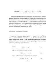 Chomko PhD Thesis - Appendix A - Foundations of Quasi-Newton Methods