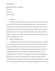 Reflection Paper One