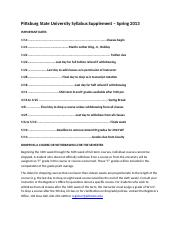 Pittsburg State University Syllabus Supplement Spring 2013.docx