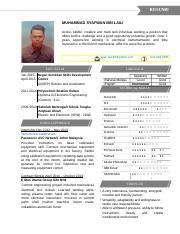 Contoh Resume Terbaik 2 Doc Resume Muhammad Syafwan Bin Laili