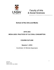 Media Uses course outline 2014
