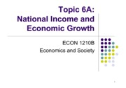Topic 6A National Income and Economic Growth