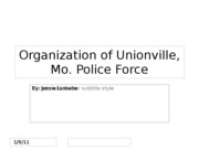 Organization of Unionville, Mo