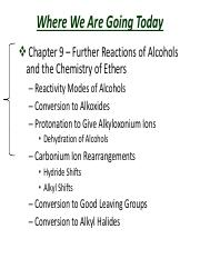 Slides  Chapter 9 Further Reactions of Alcohols and the Chemistry of Ethers(1)