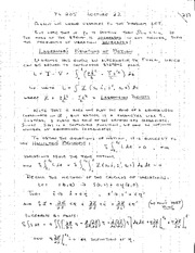 phy205_lagrange equations of motion notes