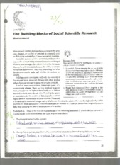 The Building Blocks of Social Scientific Research-Measurement