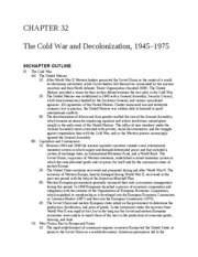 Chapter 32 The Cold War and Decolonization