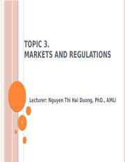 Topic 3 - Markets, Regulation and taxation
