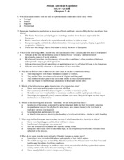 African American Experience STUDY GUIDE FOR CHAPTERS 2 - 6 (1)