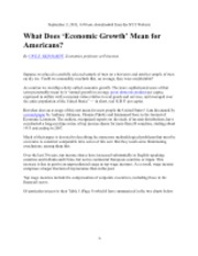 【pxã€'219 -- Reinhardt -- What Does Economic Growth Mean for Americans