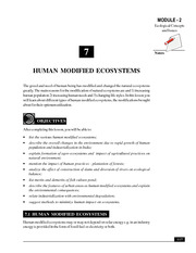 7_Human Modified Ecosystems