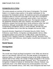Immigration & U.S. Policy Research Paper Starter - eNotes