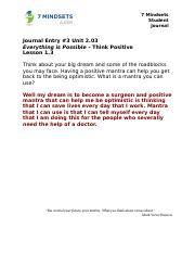 2.03 Student Journal Think Positive.docx