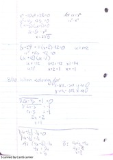 Lesson 3 Notes on Finding X and Y Intercepts