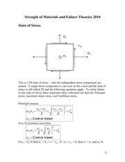 Strength of Materials and Failure Theories 2013
