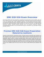 E20-526 EMC Technology Architect Certification Exam Dumps Questions