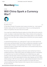 Will China Spark a Currency War_ - Bloomberg View
