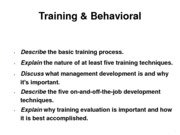 Training & Behavioral (Presentation)
