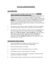 CECN503 - Term Assignment- Guidelines and Suggested Topics
