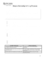 Student Learning Agreement