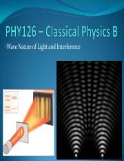 14 - Wave Nature of Light and Interference