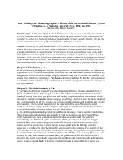 Globalizing Capital Eichengreen Summaries Chapters 1-3.pdf